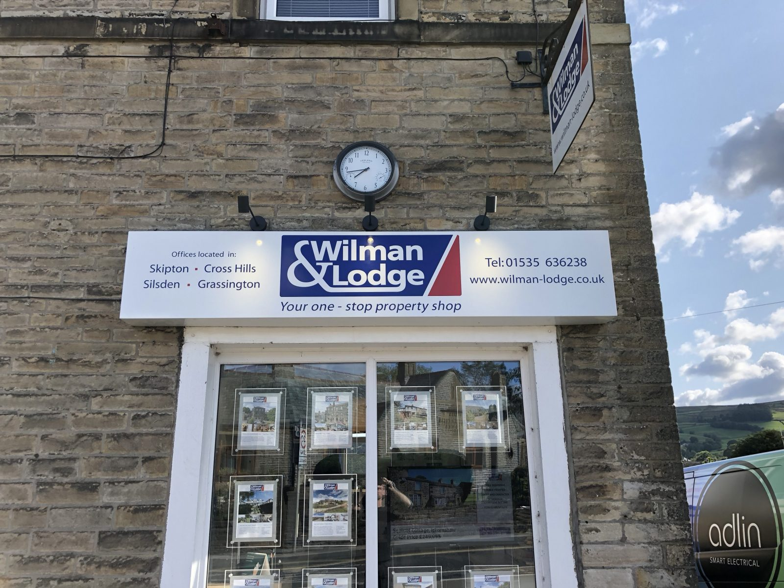 shop sign lighting Wilman and Lodge
